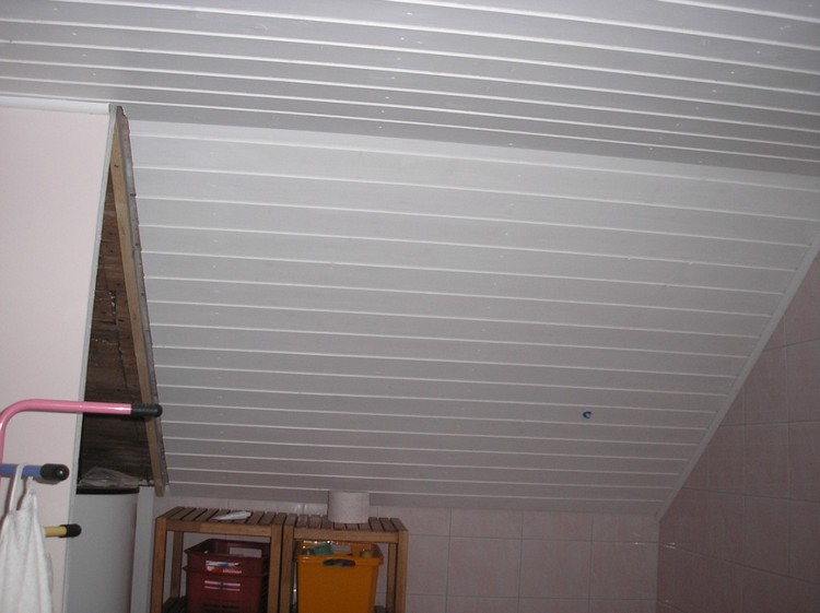 Lambris pvc plafond en 5m devis gratuit travaux for Comment poser du lambris pvc au plafond video