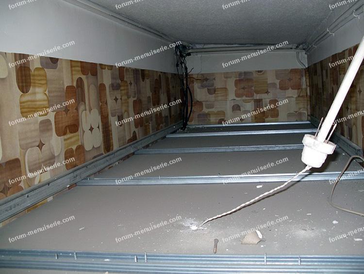 fabriquer rangements dans un faux-plafond