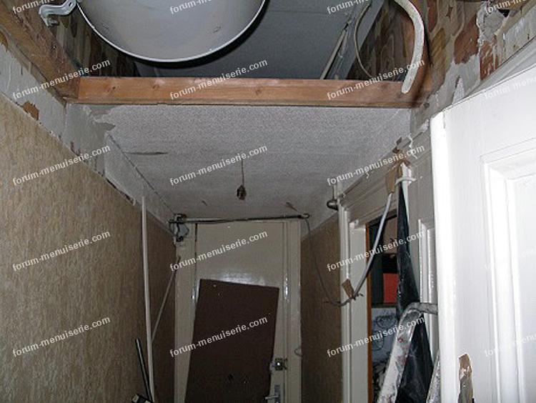 Forum bricolage menuiserie conseils pour cr er des rangements en utilisant l - Fabriquer un faux plafond ...
