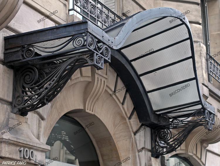 Marquises galerie photos recherche mod les ou plans de for Fabriquer une marquise en fer forge