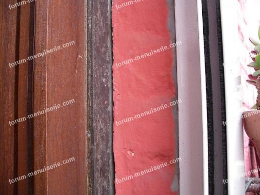 lasure couleurs différentes meranti et joint