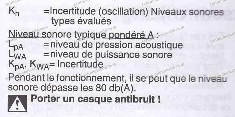niveau sonore ponceuse électrique Metabo FMS 200 Intec