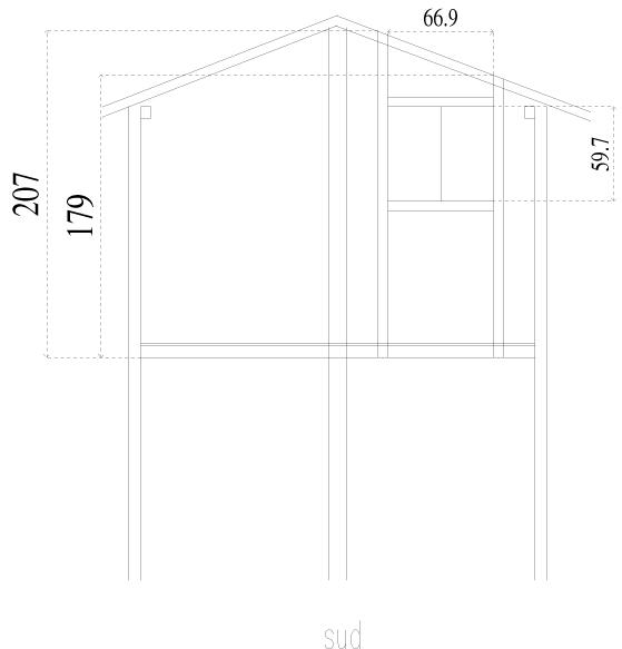 plan cabane sud