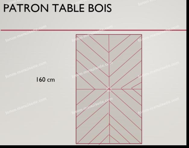 plan découpes table bois