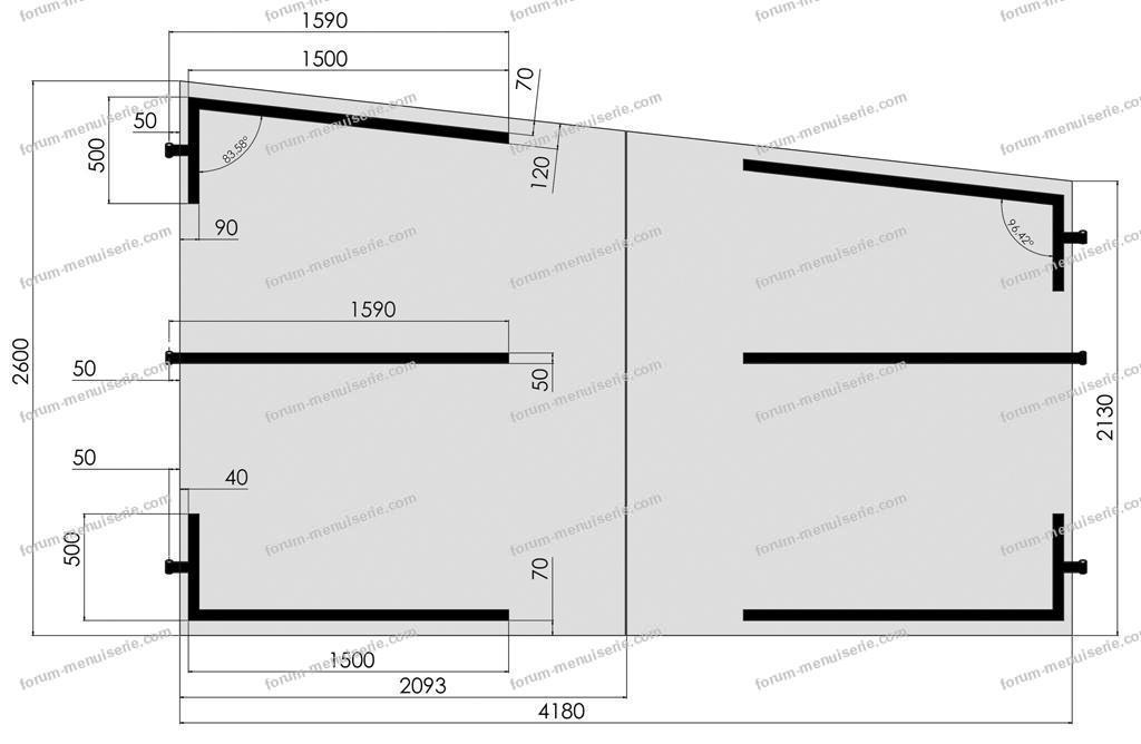 fabriquer une porte de garage en bois plan