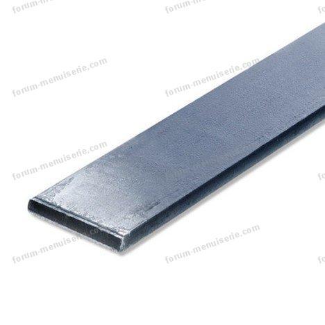plat acier brut l 1 m x l 4 cm