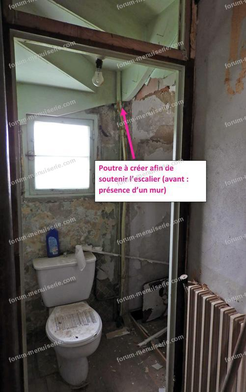 renforcement de poutres toilettes