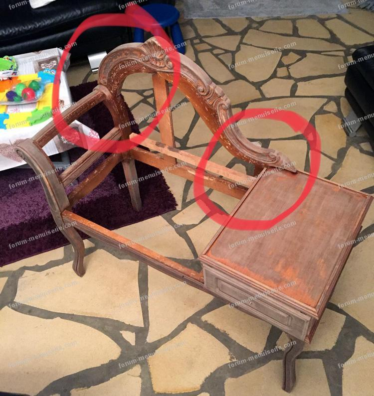 renforcer un dossier d'un fauteuil