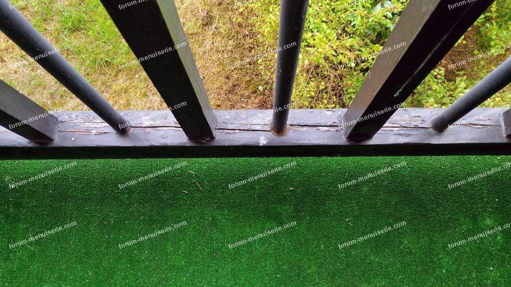 rénovation rambarde balcon en bois