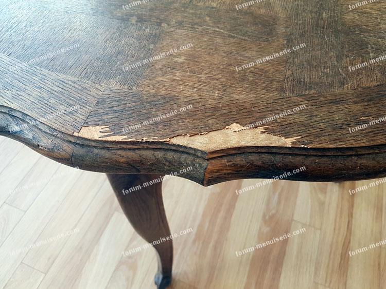 restauration table à manger en bois