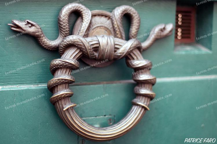 serpent heurtoir de porte